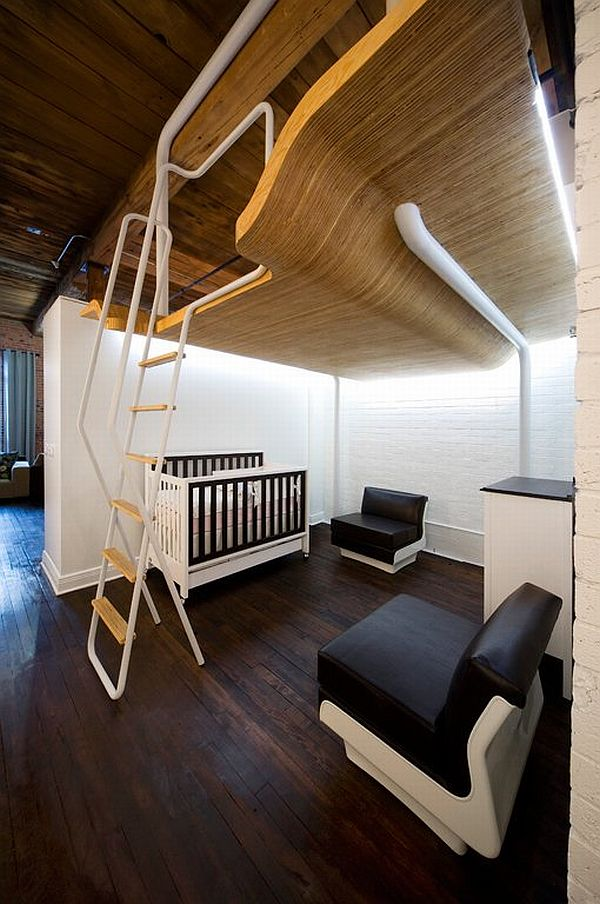 Small apartment transformed into a versatile living space - Loft met mezzanine ...