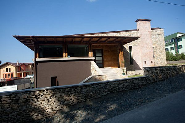 Stone House in Romania Tektum 2 Stone house combines rustic and modern in Romania
