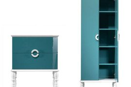 Feminine blue bathroom suite by Ypsilon
