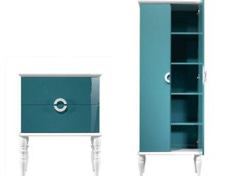 Feminine blue bathroom suite by Ypsilon