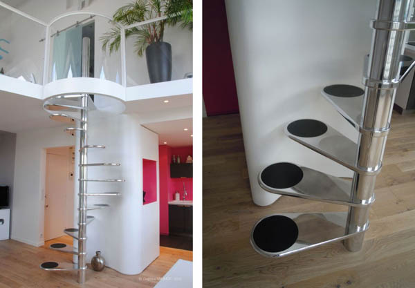 11 great examples of spiral staircases - Stairs in small house ideas ...