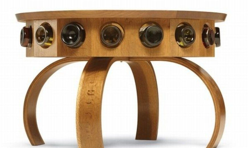 Beautiful and functional Don Vino wine table