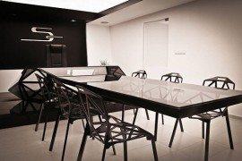 Amazing hybrid desk and conference table by Jovo Bozhinovski