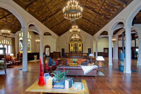 extraordinary church in san francisco converted into a modern residence. Black Bedroom Furniture Sets. Home Design Ideas
