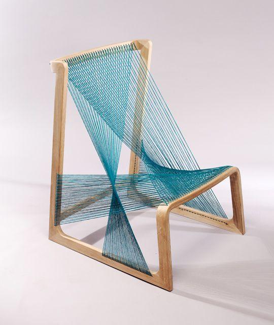 Silkchair by Alvi Design 1 Unique chair made of silk strings: the Silkchair by Alvi Design
