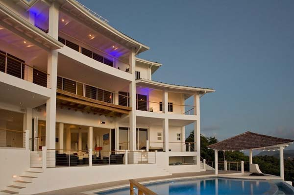 StLucia Akasha villa for rent 9 Amazing rental villa in the Caribbean featuring exceptional panoramas