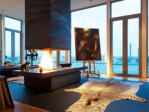 Swedish Penthouse in Stockholm 4 Exceptional artistic penthouse apartment overlooking Stockholm