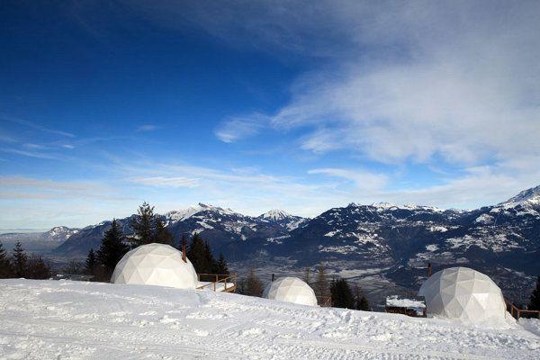 WhitePod Alpine Swiss ski resort 9