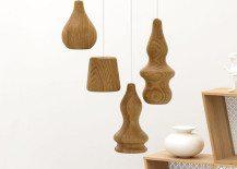 Wooden lamp design by Fermetti