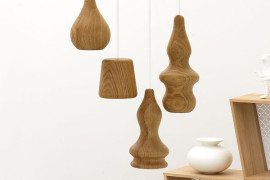Wooden lamp design by Fermetti