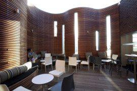 Sydney Hotel terrace with spectacular wood design