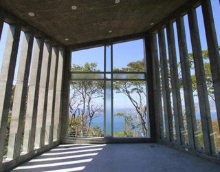 Concrete and sunset: fascinating chapel in the forest