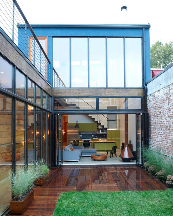 burns2 Amazing industrial bachelor home in Brooklyn