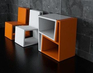 Cool flip-up furniture from Elemento Diseno