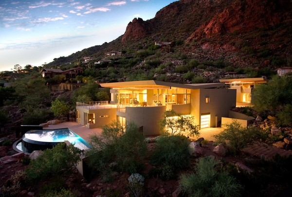 monk1 Luxurious Arizona family residence with fantastic landscaping