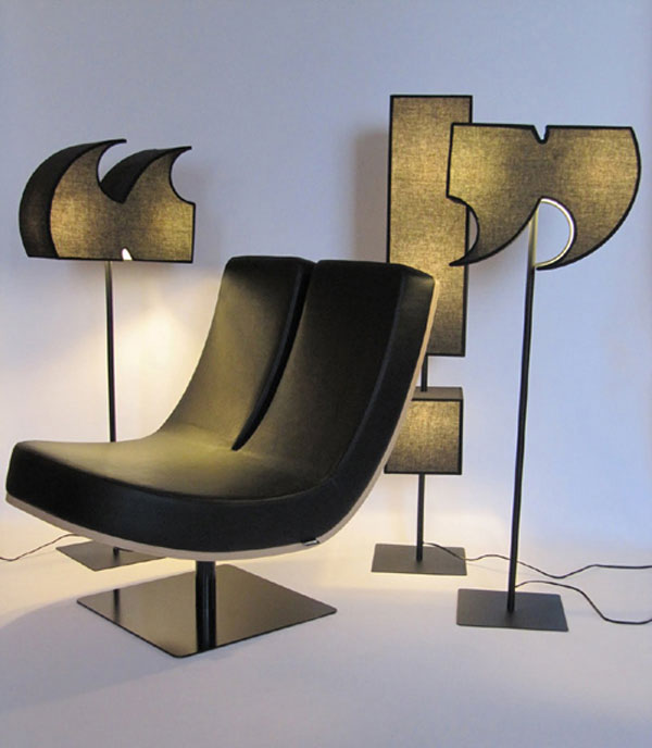 spell2 Cool typographic furniture design