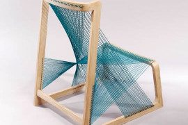 Unique chair made of silk strings: the Silkchair by Alvi Design