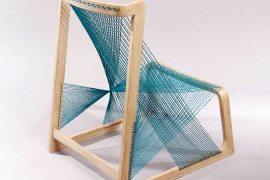 Unique chair made of silk strings: the Silkchair by Alvi Design