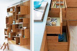 Bamboo kitchen furniture from We Do Wood