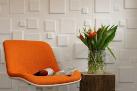 3D Wallpaper Made Out of Sugarcane Bagasse