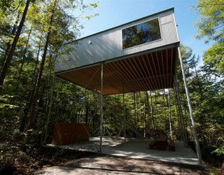 Fantastic Japanese tree house made from wood and metal
