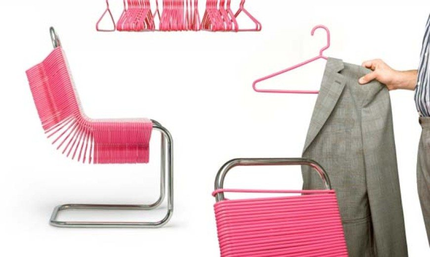 Fun and functional chair design: the Coat Check Chair by Joey Zeledón