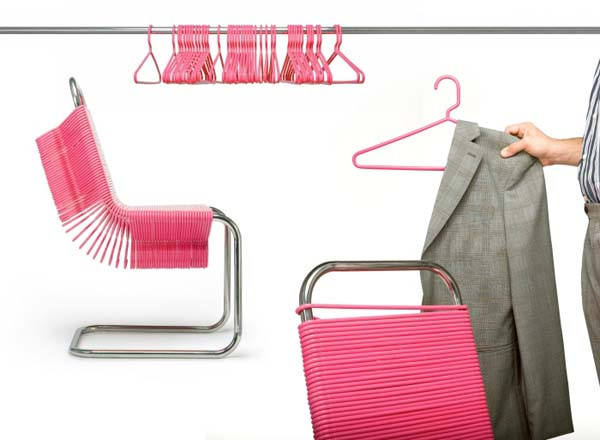Coat check Fun and functional chair design: the Coat Check Chair by Joey Zeledón