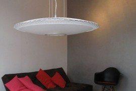 Modern Translucent Pendant Lamp by Marc van der Voom