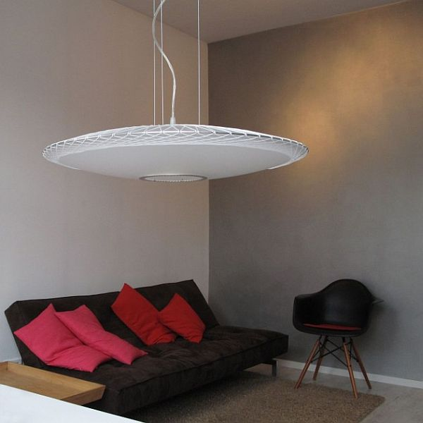 Disque Pendant Lamp by Marc van der Voorn 1 Modern Translucent Pendant Lamp by Marc van der Voom