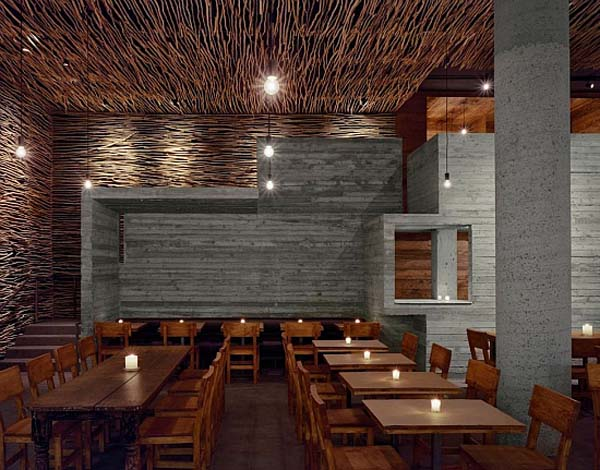 Pio Pio Restaurant by Sebastian Marsical Studio 9 Fantastic wood, concrete and twigs restaurant design in New York City
