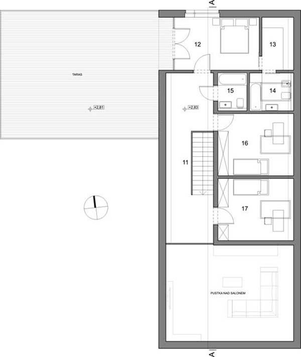 Minimalist single family vacation home in poland by neostudio architects - Three family house plans cost efficient choices ...