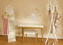 Feminine and naive design dressing room furniture from Eden