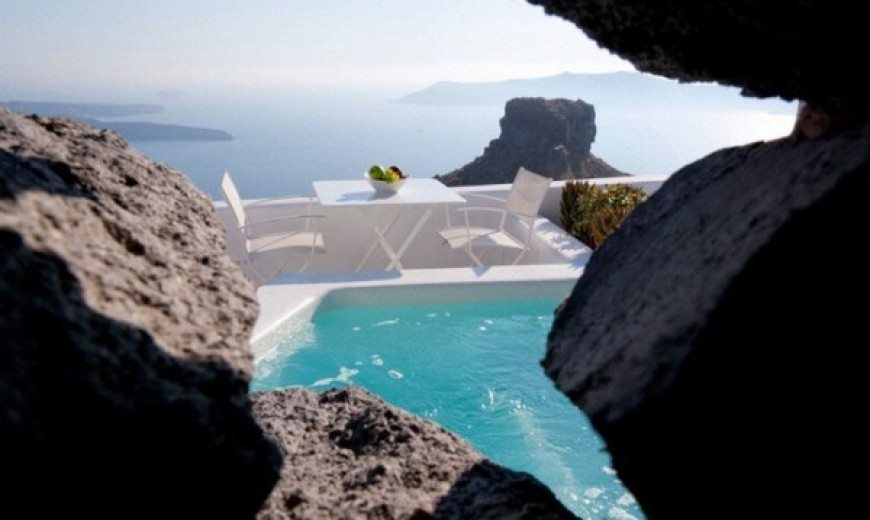 Mediterranean hotel design inspired by unique Santorini architecture