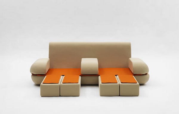 sofa1 Cute multifunctional   sofa by Matali Crasset