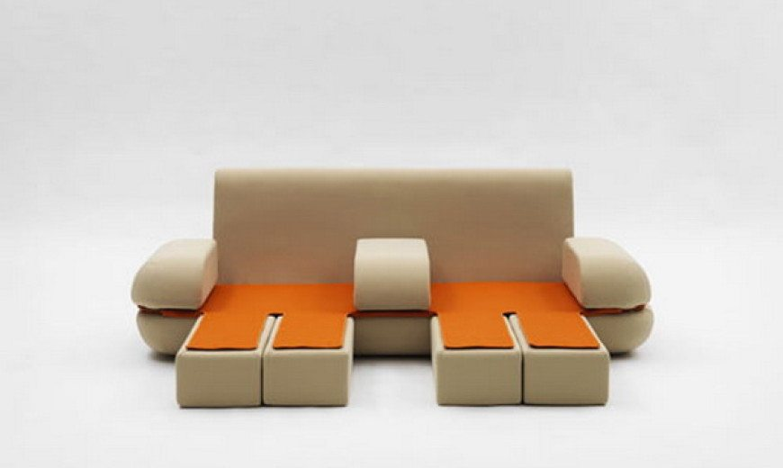 Cute multifunctional – sofa by Matali Crasset