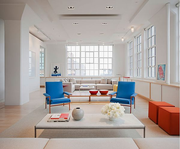 white apartment inspiration 2 Pure white loft with bold colourful accents