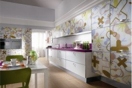 Amazing contemporary glass kitchen furniture from Scavolini