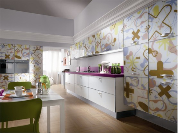 Crystal by Scavolini 11 Amazing contemporary glass kitchen furniture from Scavolini