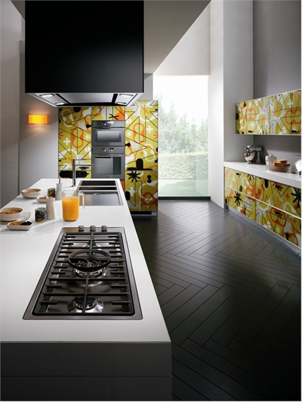 18 Modern Glass House Exterior Designs: Amazing Contemporary Glass Kitchen Furniture From Scavolini