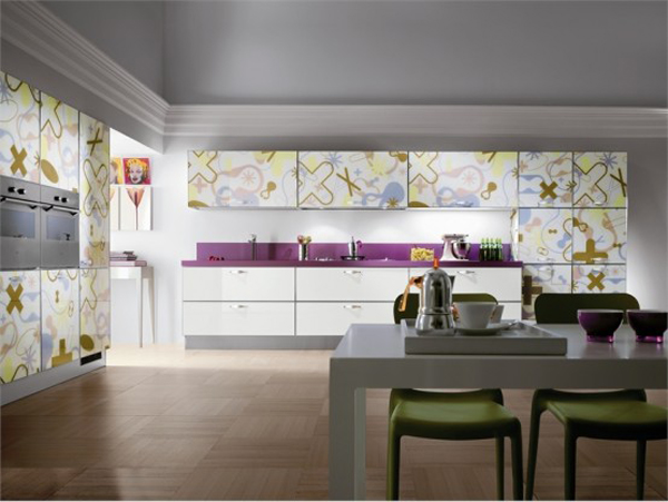 Crystal by Scavolini 7 Amazing contemporary glass kitchen furniture from Scavolini
