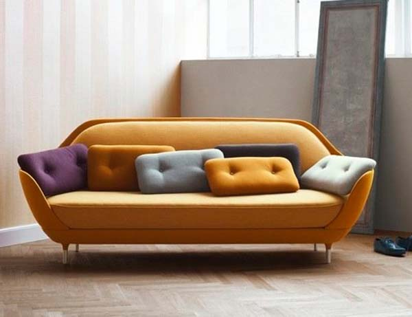 Shell like sofa offers a unique seating experience favn for Unique sofa designs