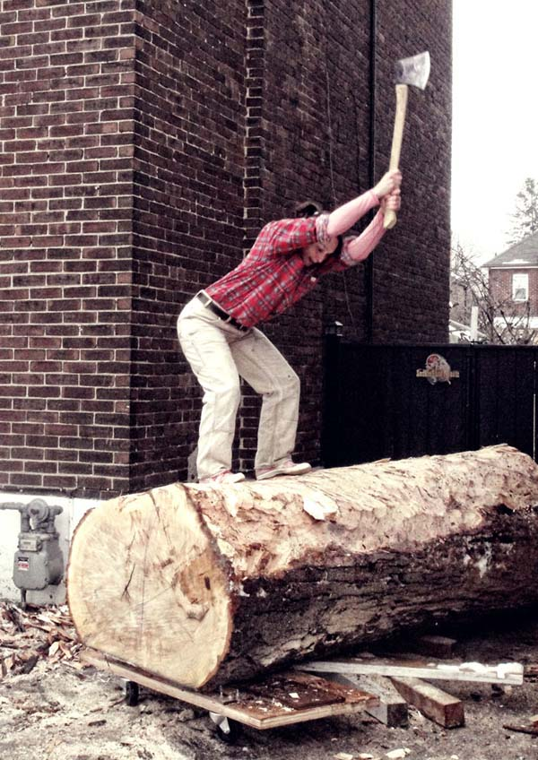 Log Chop Bench  (3)