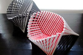 Exceptionally creative seating unit: Rising Chair by Robert Van Embricqs