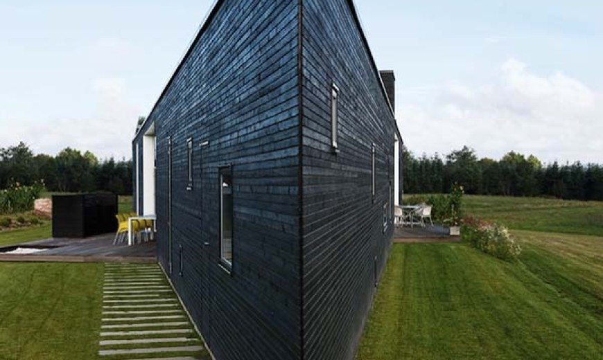 Triangular home in Denmark for a young and happy family
