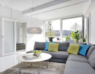 Chic White Apartment on Stockholm's Kungsholmen Island