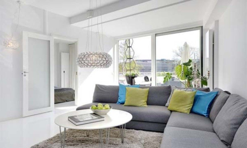 Chic White Apartment on Stockholm's Kungsholmen Island