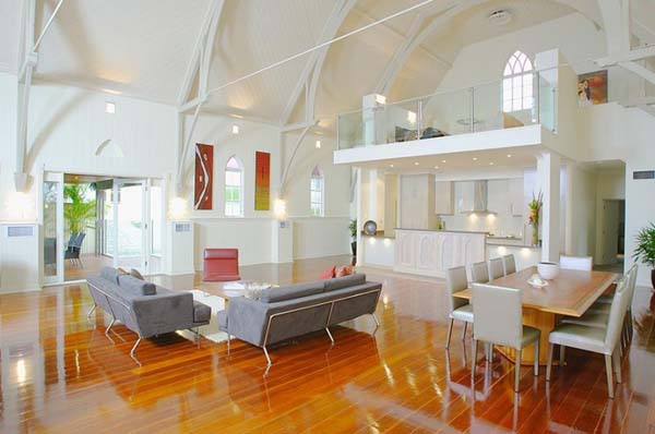 Willis Greenhalgh Architect 3 Old Brisbane heritage church transformed into a modern home