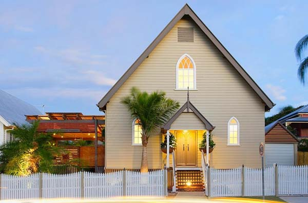 Willis Greenhalgh Architect Old Brisbane heritage church transformed into a modern home