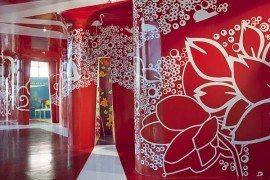 Colourful training center in Mexico designed by ROW Studio: Espacio C