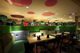 Surprisingly modern: Alice in Wonderland-themed restaurant